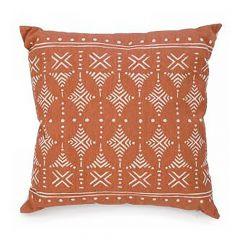 Terracotta Colored Print Cushion