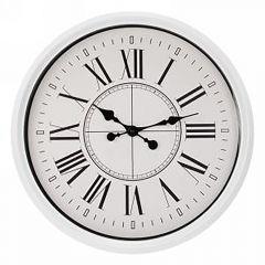 White Edge Clock - Large Roman Numerals