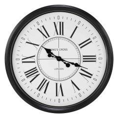 Black Edge Clock - Large Roman Numerals