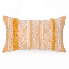 Rectangle Mustard Yellow Aztec Print Cushion
