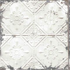 Donahue White Tin Ceiling Wallpaper