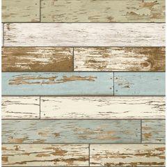 Levi Green Scrap Wood Wallpaper