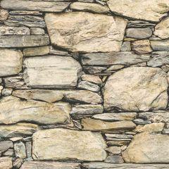 Cesar Beige Stone Wall Wallpaper
