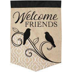 Song Birds Welcome Garden Durasoft Flag
