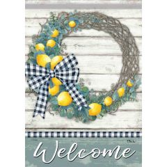 Lemon Wreath Garden Durasoft Large Flag