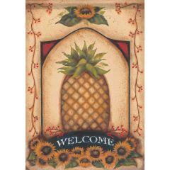 Vintage Pineapple Garden Surasoft Large Flag