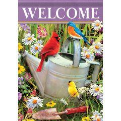 Song Birds Meet Garden Durasoft Large Flag