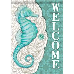 Meddallion Seahorse Garden Surasoft Large Flag