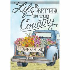 Life is better in the Country Garden Durasoft Large Flag