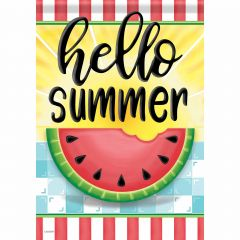 Hello Sweet Summer Garden Durasoft Large Flag