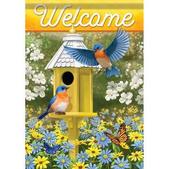 Delightful Birds Garden Durasoft Large Flag