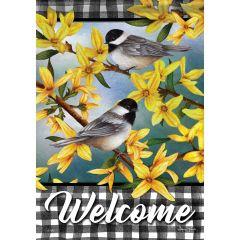 Spring Forsthia Welcome Garden Durasoft Flag