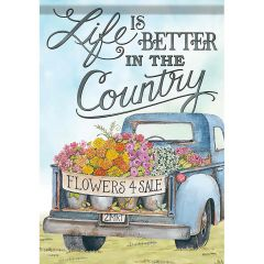 Life is better In the Country Garden Durasoft Flag