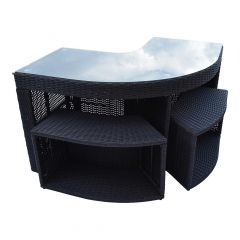 Corner Bar And Two Stools - Square Spa Surround Furniture