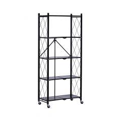 Folding Shelf 5 Tier Black