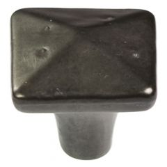 """Carbonite 1-1/4"""" Square Black Iron Knob"""