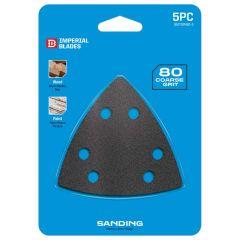 Multi-Tool Triangle Sandpaper 80 Coarse Grit 5 Piece