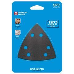 Multi-Tool Triangle Sandpaper 120 Coarse Grit 5 Piece