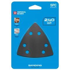 Multi-Tool Triangle Sandpaper 240 Coarse Grit 5 Piece
