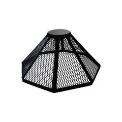 Fireguard For Round Firepit-Black Steel