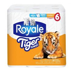 Royale Tiger Towel Full Sheet-6/Pack