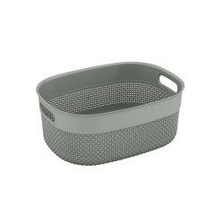 Medium Purl Grey Basket 12L