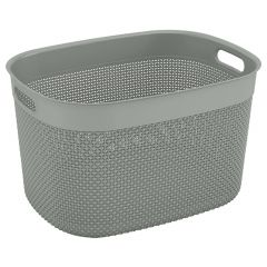 Extra Large Purl Grey Basket 30L