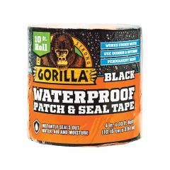 """Gorilla Waterproof Patch And Seal Tape Black- 4"""" x 10'"""