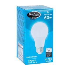 LED 9 Watt A19 800L 2700K Bulb