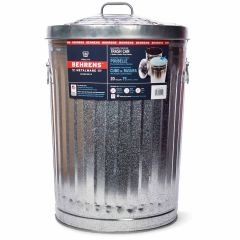 75L Galvanized Steel Trash Can With Lid