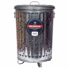 75L Rufuse Can Galvanized Steel Trash Can With Lid
