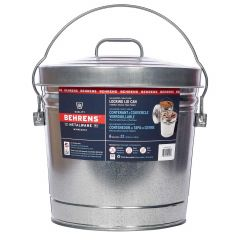 22L Galvanized Steel Trash Can With Locking Lid