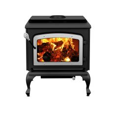 Escape 1800 Wood Stove On Legs With Brushed Nickel Door