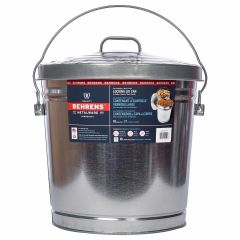 37L Galvanized Steel Trash Can With Locking Lid