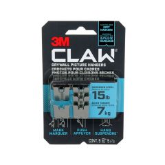 CLAW Drywall Picture Hanger 15 lb 5 hangers, 5 markers