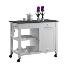 White Columbus Kitchen Cart