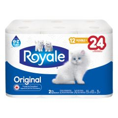 Royale 12 Roll 2 Ply Double Bath Tissue