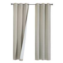 "Abaco 74""x84"" Thermal Room Darkening Grommet Curtains"