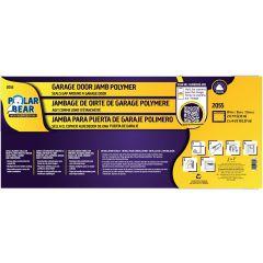 Garage Triple Seal Polymer Door Jamb-White