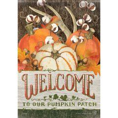 Pumpkin Patch Welcome Garden Flag