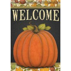 Give Thanks Pumpkin Large Flag
