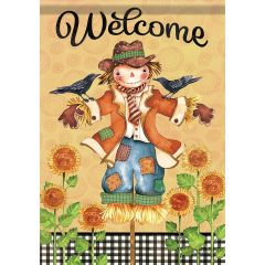 Bright Day Scarecrow Large Flag