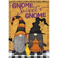 Halloween Gnomes Garden Flag
