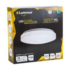 """11"""" Round LED Flushmount 15W 1100 Lumens"""