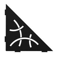 Curve Mural Triangular Corner Shelf