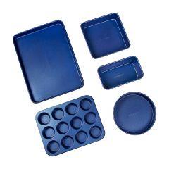 Granitestone Diamond Pro Blue 5 Piece Bakeware Set