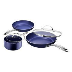 Granitestone Diamond Blue 5 Piece Cookware Set