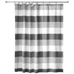 Wide Multi Stripe Shower Curtain