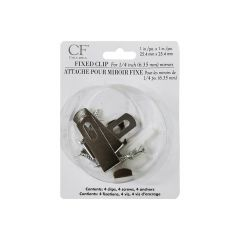 Chrome Mirror Fixed Clip-4/Pack