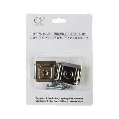 Chrome Spring Mirror Clip-2/Pack